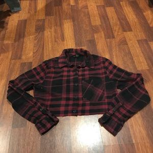Forever21 Plaid Crop Top